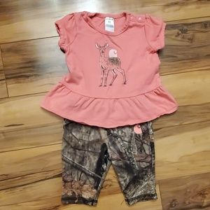 Carhartt baby girl 9 month 2 piece outfit